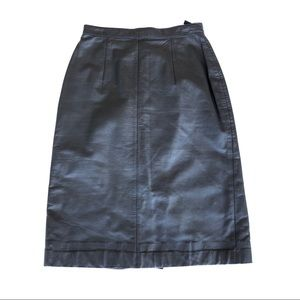 Vintage Nordstrom Leather Pencil Skirt